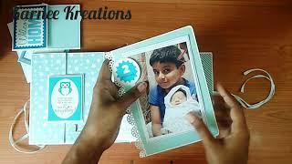 Baby Boy Mini Album using Little Birdie Baby Boy Paper pack