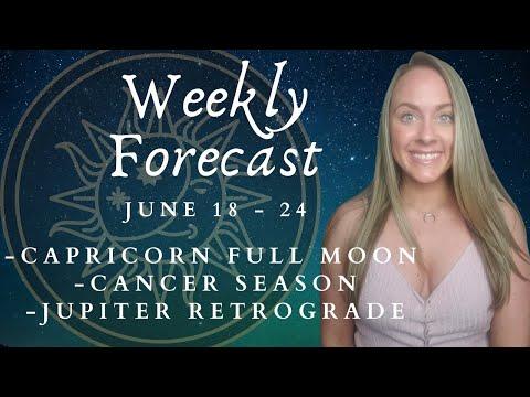 Full Moon in Capricorn June 2021 & Jupiter Retrograde | Weekly Astrology Forecast All 12 Signs
