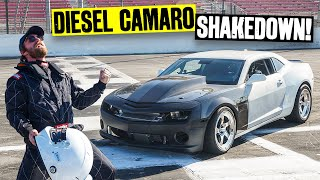 First Shreds! Testing Our Duramax Swapped Camaro at Irwindale Speedway // Knuckle Busters 2 Ep.15