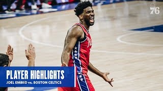 Joel Embiid | HIGHLIGHTS vs. Boston Celtics (01.22.21) | Presented by IBX