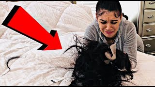 HAIRCUT PRANK ON WIFE *she freaked out*