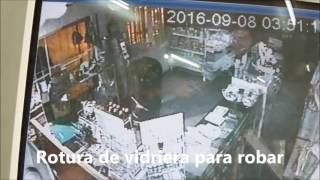 El robo registrado en las cámaras