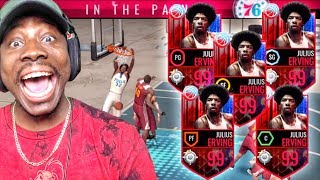 OMG FULL SQUAD OF 99 OVR DR. Js IN GAUNTLET! NBA Live Mobile Gameplay Ep. 150