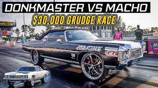 DONKMASTER VS MACHO 30K GRUDGE RACE - BIRTHDAY BASH BLOCK PARTY | FIGHTS , WOMEN & SURPRISES!