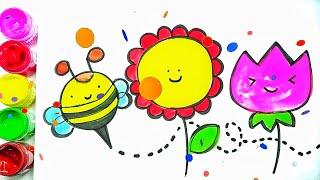 Cute Happy Flower doodle for Children 2019 - Happy Doodle ❤️