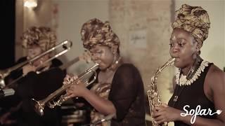 "Kokoroko Afrobeat Collective performing ""Colonial Mentality"" at Sofar London on 7/2916"