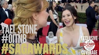 Yael Stone #OitNB interviewed on the 24th Screen Actors Guild Awards Red Carpet