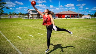 MY GF CAN CATCH BETTER THAN ODELL BECKHAM JR.. (ROUTE TREE CHALLENGE)