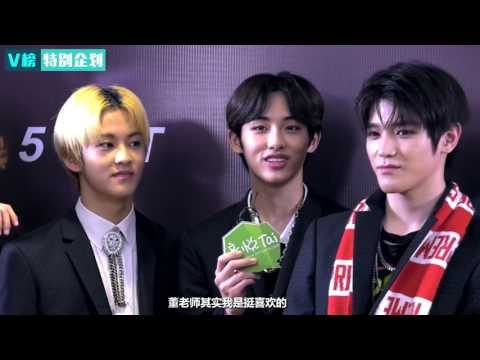 170408 NCT 127 V Chart Award interview 音悦V榜特别企划 NCT 127 EP184 爱豆盛典直播间尬舞彪中文