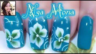 Vẽ hoa 5 cánh bằng cọ bản || Nga Mona || Beautiful Nail