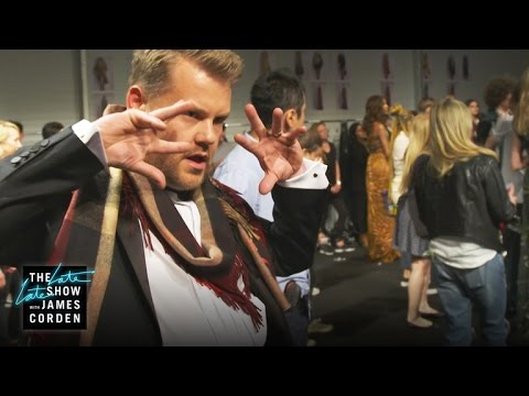 James Corden Headlines Burberry Fashion Show