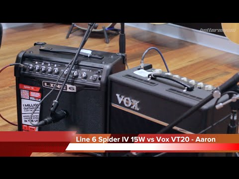 Line 6 Spider IV 15W vs Vox VT20+ Valvetronix Amplifier Comparison | Better Music