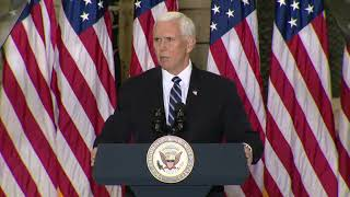 VP Mike Pence, Second Lady Karen Pence speak to military