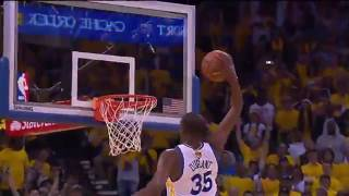 JR Smith Runs Away From Kevin Durant's Dunk