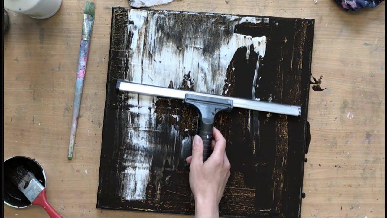 Abstraktes Acrylbild Video Novostink