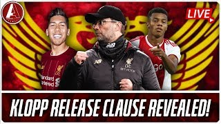 KLOPP'S RELEASE CLAUSE AND AGENT BOBBY | LFC Transfer News & Chat