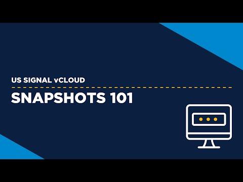 US Signal vCloud - Snapshots 101