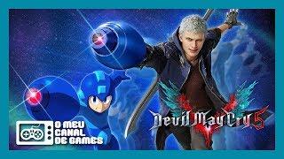 BOMBA!!! Devil May Cry 5 VIROU MEGA MAN!!! MEGA BUSTER NERO GAMEPLAY