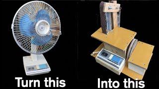 /making belt sander from old fan