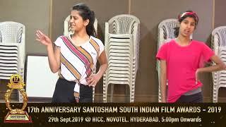 Nabha Natesh Santosham Awards - Dance Reharsals..