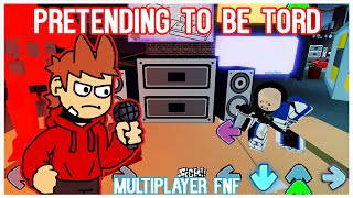 Pretending to be Tord in ROBLOX Friday Night Funkin