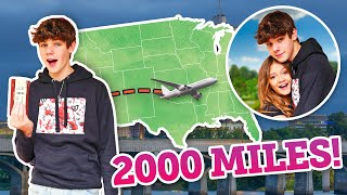 I TRAVELED 2,000 MILES TO SURPRISE MY CRUSH ** Cute Reaction**✈️ ❤️| ft. Sophie Fergi | Nathan Smith