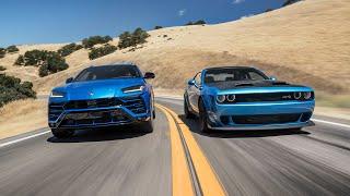 Dodge Challenger Hellcat Redeye Widebody vs. Lamborghini Urus—2019 BDC Hot Lap Matchup
