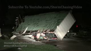 Lewis, KS Night Time Tornado and Damage - 5/17/2019