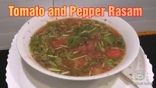 Tomato and Pepper Rasam in tamil