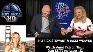 "Hilarious Patrick Stewart ""Blunt Talk"" Interview w/Jackie Weaver!!"