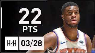Emmanuel Mudiay Full Highlights Knicks vs 76ers (2018.03.28) - 22 Points off the Bench!