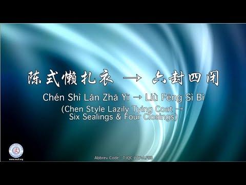 Chén Shì Lǎn Zhā Yī → Liù Fēng Sì Bì TJQC LZY+LFSB ( Lazily Tying Coat→ Six Sealing & Four Closing)
