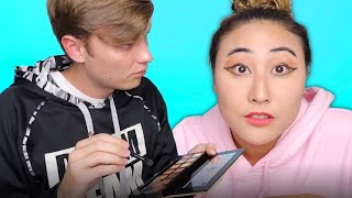 MY BOYFRIEND DOES MY MAKEUP!!