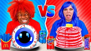 RED VS BLUE FOOD CHALLENGE