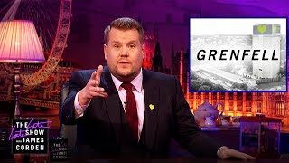 James Corden Talks About Grenfell Tower