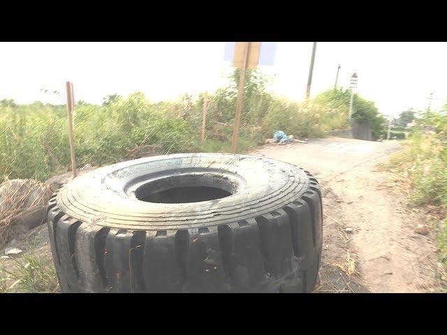 防非法傾倒 水利署輪胎封路惹民怨