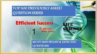 Top 500 questions series//Life Science//Part 1//RRB GROUP-D//ALP//NTPC//CGL //CHSL//MTS//CPO//