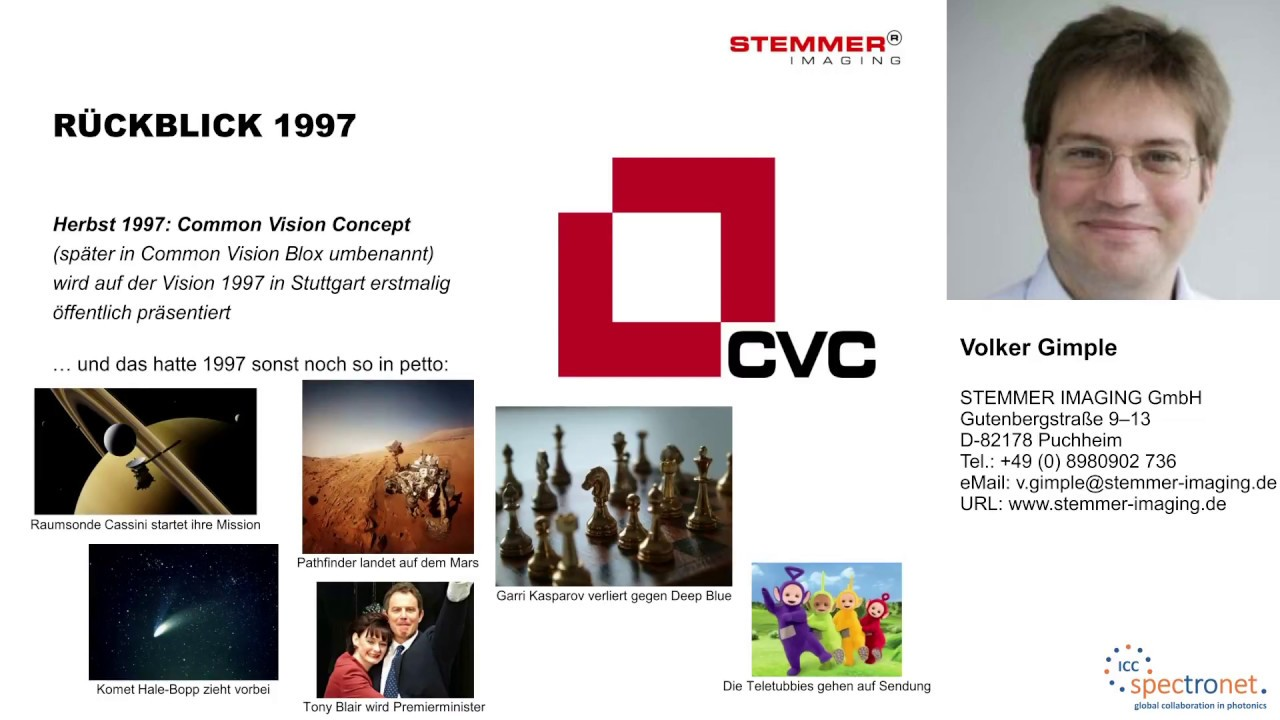 CVB++, CVB.Net und pyCVB – neue Ansätze zur modernen Anwendungsentwicklung mit Common Vision Blox - Technologieforum Bildverarbeitung 2017