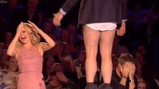 David Williams Gone CRAZY!! DROPS His Trousers in Public | Auditions 7 | Britain's Got Talent 2017