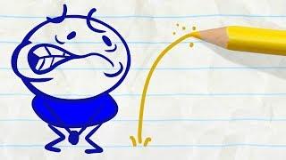 Pencilmate Needs A Bathroom! - Pencilmation Cartoons