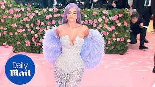 Kylie Jenner hits the 2019 Met Gala in a showgirl inspired dress