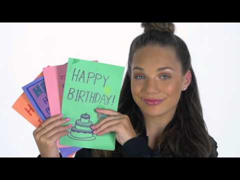 Multitalented dancers/actresses Maddie and Mackenzie Ziegler known for their roles in the award-winning series Dance Moms, recorded a public service announcement encouraging their fans to create birthday cards for youth experiencing homelessness. To sign up for the Birthday Mail campaign, visit DoSomething.org/BirthdayMail.