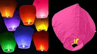 How To Make A Sky Lantern At Home - DIY Crafts