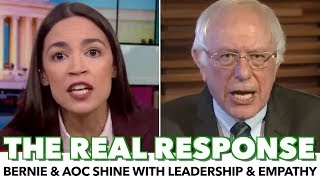 Bernie & Ocasio-Cortez Shine In Response To Trump Wall Speech