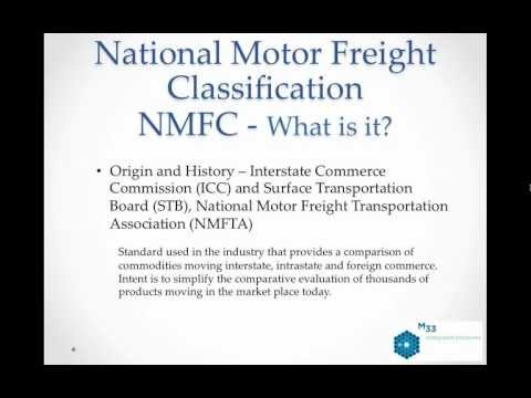 Freight Classification 101
