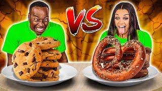 SALTY VS SWEET FOOD CHALLENGE