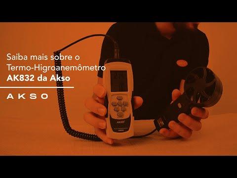 Saiba mais sobre o Termo-Higroanemômetro AK832 da Akso