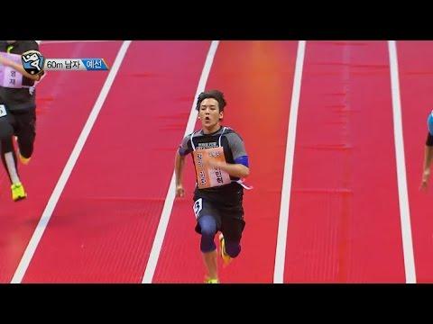 【TVPP】MinHyuk(BTOB) - M 60m Race Preliminary, 민혁(비투비) - 남자 60m 달리기 예선 @2015 Idol Star Championship