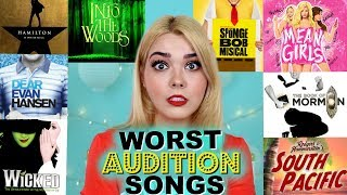 WORST Musical Theatre Audition Songs