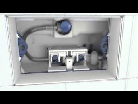 Montage Geberit Drukplaat Op Inbouwreservoir Youtube